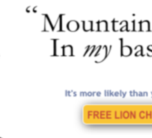 Mountain Lions, in My Basement? Sticker