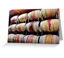 Racks of Wine Barrels Greeting Card