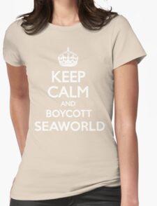 KEEP CALM BOYCOTT SEAWORLD Womens Fitted T-Shirt
