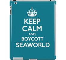 KEEP CALM BOYCOTT SEAWORLD iPad Case/Skin