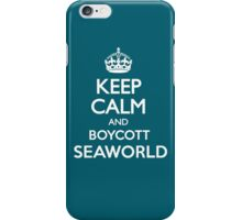 KEEP CALM BOYCOTT SEAWORLD iPhone Case/Skin