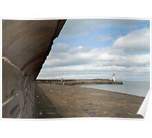 Whitehaven harbour seawall Poster