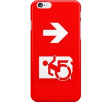 Accessible Means of Egress Icon Emergency Exit Sign, Right Hand Down Arrow iPhone Case/Skin