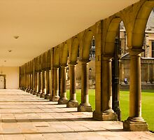 Nevile's Court Colonnade Trinity College Cambridge by Kawka