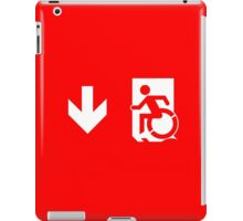 Accessible Means of Egress Icon Emergency Exit Sign, Left Hand Down Arrow iPad Case/Skin