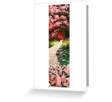 Cherry Blossom Geisha Greeting Card