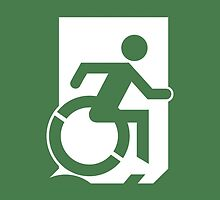 Accessible Means of Egress Icon Emergency Exit Sign, Right Hand by LeeWilson