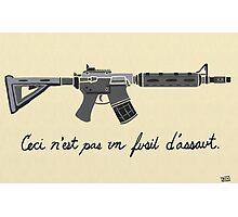 Treachery of Assault Weapons Photographic Print