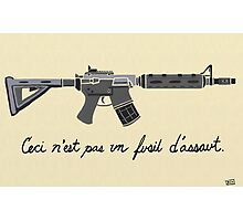 Treachery of Assault Weapons Photographic Print