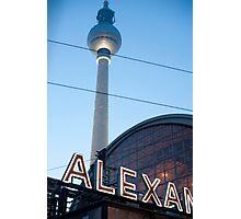 Alexanderplatz sign Photographic Print