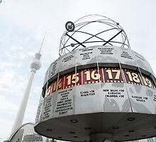 Weltzeituhr or Worldtime Clock, Berlin by photoeverywhere