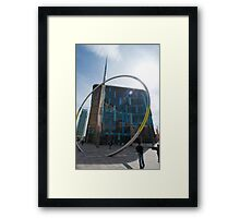 Alliance sculpture, Cardiff Framed Print
