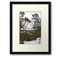 central plateau Framed Print