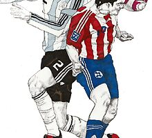 World Cup Soccer - Argentina x Paraguay by Paul  Nelson-Esch
