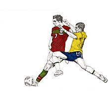 World Cup Soccer - Portugal x Brazil Photographic Print