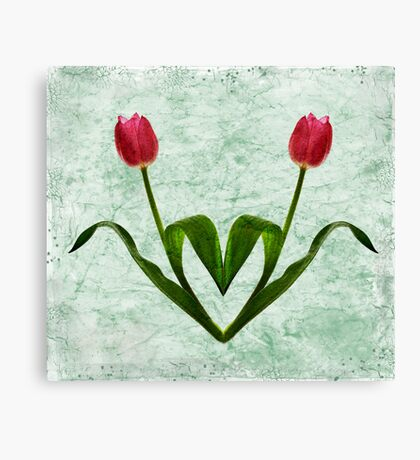 Tulip Heart Canvas Print