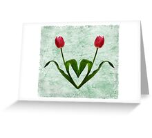 Tulip Heart Greeting Card