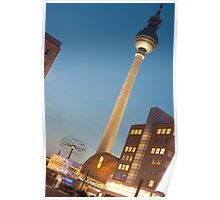 Alexanderplatz, Berlin, at night Poster