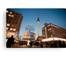 Alexanderplatz at night Canvas Print