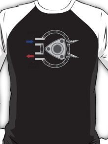 Rotary engine diagram - Boost in, apex seals out. T-Shirt