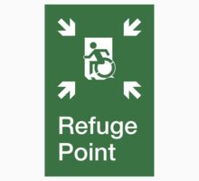 Refuge Point Accessible Exit Sign, with the Accessible Means of Egress Icon, part of the Accessible Exit Sign Project Kids Clothes
