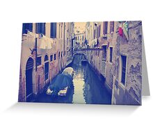 Venice, Italy, Grand Canal and historic tenements Greeting Card