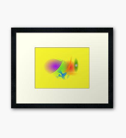 Vegetable Talk Framed Print