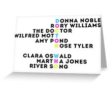 Doctor Who Companions  Greeting Card