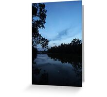 Moon on the River Greeting Card