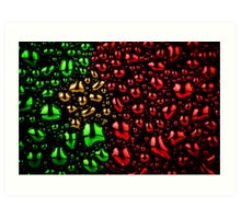 Portuguese flag made of water drops Art Print