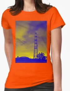 Psychedelic pylon Womens Fitted T-Shirt