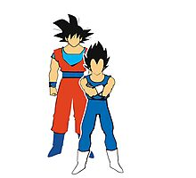 Goku and vegeta. DBZ white border. Photographic Print