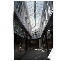 Glass roof and shopfronts of the Morgan Arcade Poster