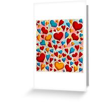 Coloured Hearts ♥ Greeting Card