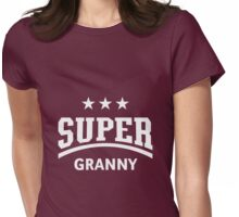 Super Granny (White) Womens Fitted T-Shirt