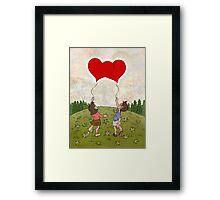 Heart Balloons ♥ Framed Print