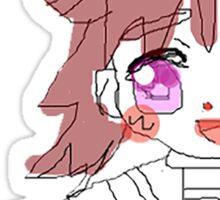 """「バイ」 """"Bye"""" Anime Girl Sticker"""