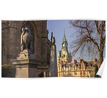 Dunfermline Abbey and City Chambers Clock Poster