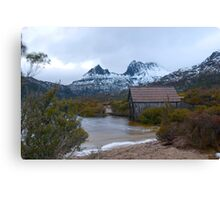 boatshed cradle mountain Canvas Print