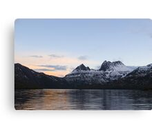 winter sunset cradle mountains Canvas Print
