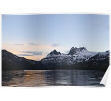winter sunset cradle mountains Poster