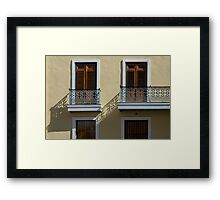 Sophisticated Wrought Iron Shadows - the Beautiful Colonial Architecture of Old San Juan Framed Print