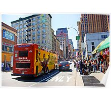Tour Bus in Manhattan, New York Poster