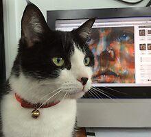 Sophie, admirer of art by Linda Lees