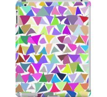 shuffled colorful triangle pattern background iPad Case/Skin