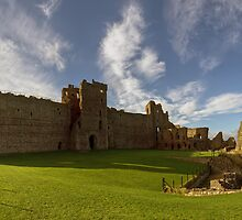 Panoramic View of Tantallon Castle. North Berwick. Scotland by Miles Gray