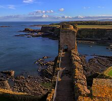 Looking Towards the East Tower, Tantallon Castle. Scotland by Miles Gray