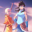 Avatar - Aang and Korra by Tom Skender