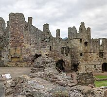 The Ruins of Dirleton Castle. Scotland (Panoramic) by Miles Gray