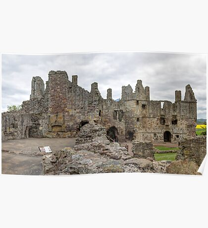 The Ruins of Dirleton Castle. Scotland (Panoramic) Poster